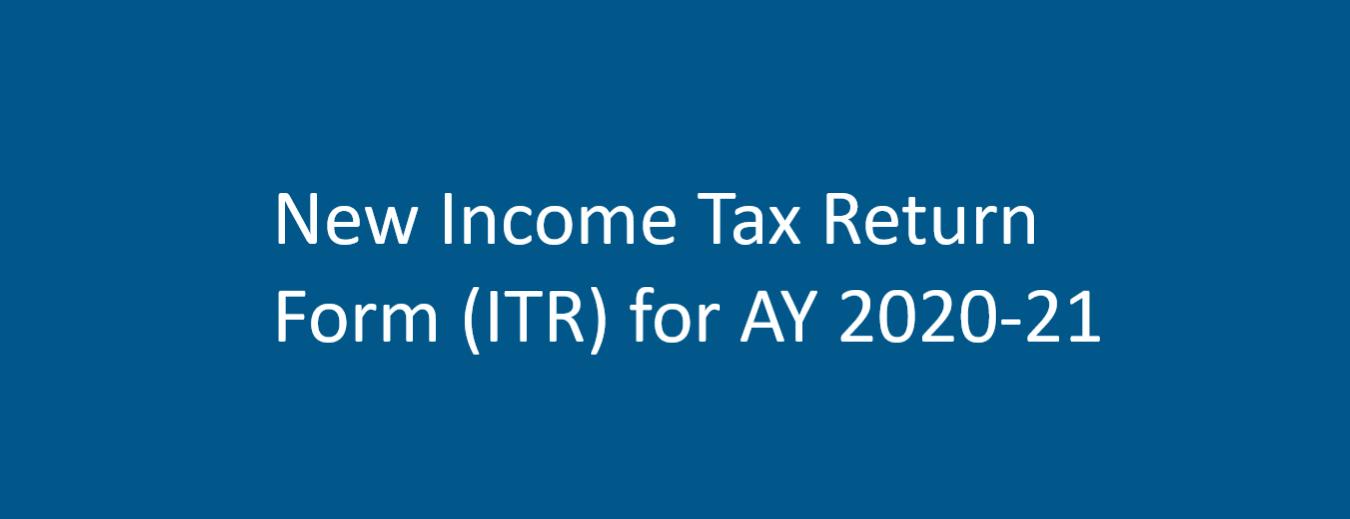 New ITR form AY 2020-21! No ITR Form option in e-filing portal!