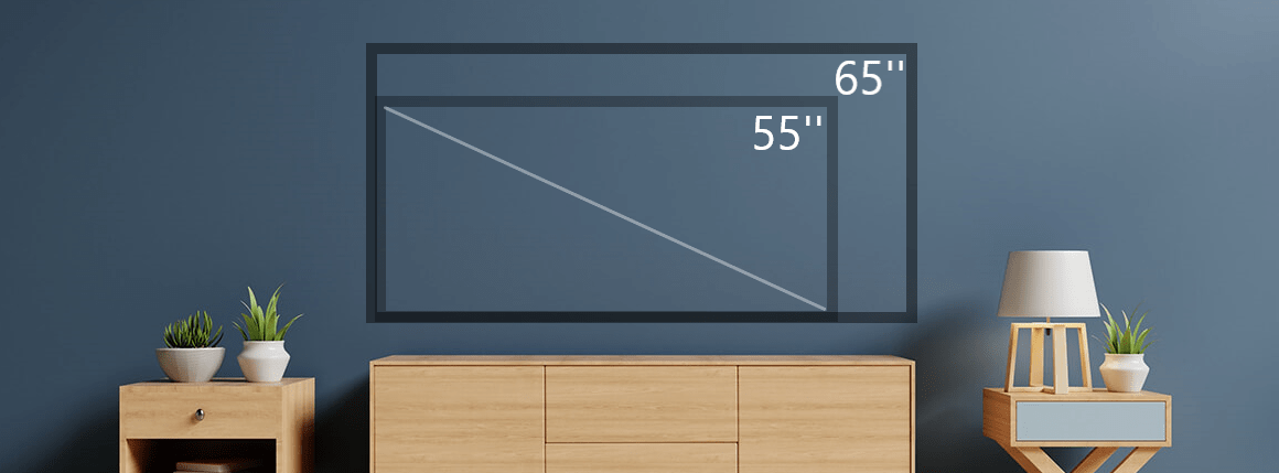 55 inch vs 65 inch TV feature image