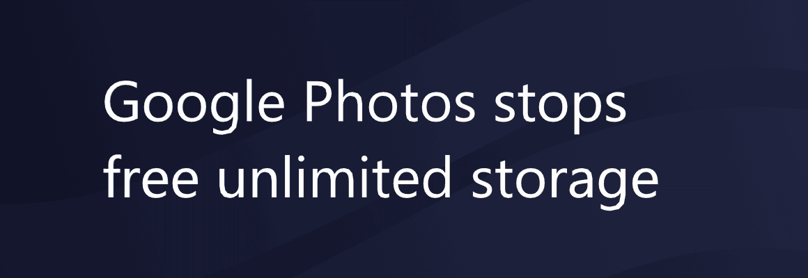 Google Photos stops free unlimited storage